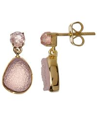 John Lewis - Pink Gemstones Quartz Drop Earrings - Lyst