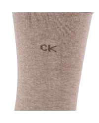 John Lewis - Natural Calvin Klein Roll Top Crew Socks - Lyst