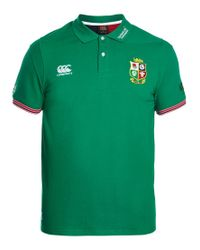Canterbury Green British And Irish Lions Rugby Polo Shirt for men