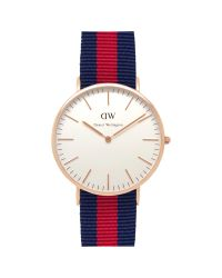 Daniel Wellington | Blue Men's Classic Oxford Rose Gold Nato Strap Watch | Lyst