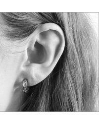 Dyrberg/Kern - Metallic Desolo Crystal Hoop Earrings - Lyst