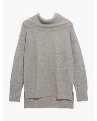 Oasis Gray Sparkly Ottoman Knit Jumper
