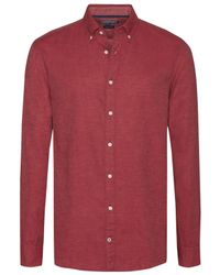 Tommy Hilfiger - Red Two Tone Flannel Shirt for Men - Lyst