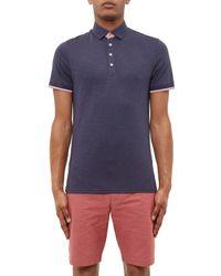 Ted Baker Blue Helyea Polo Shirt for men