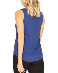 Oasis Blue High Back Vest Top