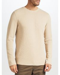 John Lewis Natural Waffle Knit Top for men