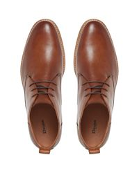Dune Brown Magnus Leather Boots for men