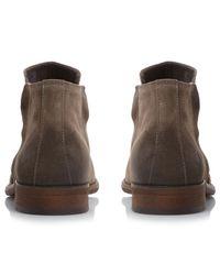 Bertie Brown Collie Double Zip Boots for men