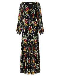 Somerset by Alice Temperley Black Vintage Floral Print Maxi Dress