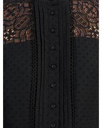 Somerset by Alice Temperley Black Leopard Jacquard Midi Dress