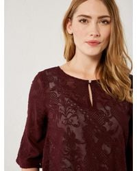 White Stuff - Purple Iris Embroidered Top - Lyst