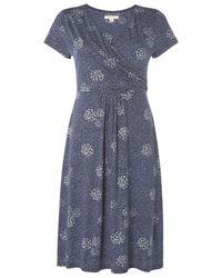 White Stuff - Blue Summer Time Spot Jersey Dress - Lyst