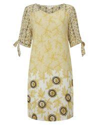 White Stuff Yellow Blue Nile Dress