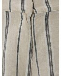 White Stuff Natural City Linen Stripe Shorts