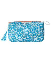 White Stuff Blue Bright Dotty Floral Makeup Bag
