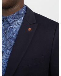 Scotch & Soda Blue Jersey Blazer for men