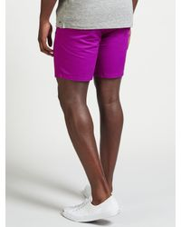 Scotch & Soda Purple Chino Peached Cotton Shorts for men