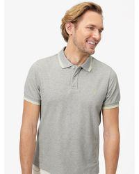Joules Gray Kielder Tipped Polo Shirt for men