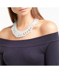 John Lewis - Blue Sparkle Bead Crystal Collar Necklace - Lyst