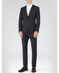 Reiss Gray Gaffer Modern Fit Peak Lapel Suit for men