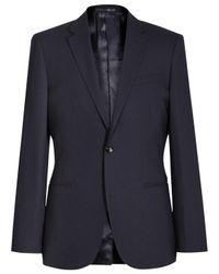 Reiss Blue Drifter Pure Wool Slim Suit Jacket for men