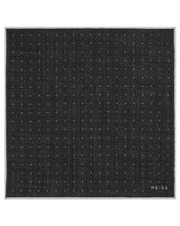 Reiss Black Pinta Dotted Wool Pocket Square for men