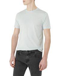 Reiss White Bless Crew Neck Marl T-shirt for men