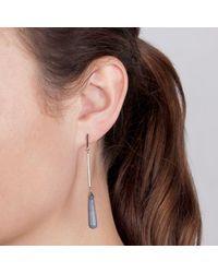 Dyrberg/Kern - Multicolor Becky Elongated Agate Chain Drop Earrings - Lyst