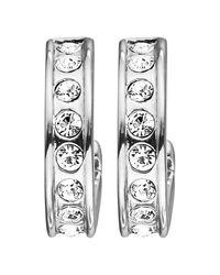 Dyrberg/Kern | Metallic Dyrberg/kern Desolo Crystal Hoop Earrings | Lyst