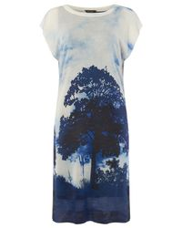 Phase Eight - Blue Carlotta Tree Print Dress - Lyst