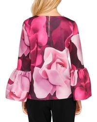 Ted Baker - Pink Toepal Porcelain Rose Bell Sleeve Top - Lyst