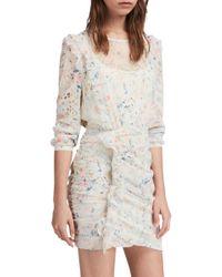 AllSaints - White Juni Dress - Lyst
