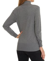 Betty Barclay Gray Polo Neck Jumper
