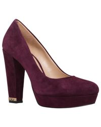 MICHAEL Michael Kors | Purple Sabrina High Cone Heel Pump Court Shoes | Lyst