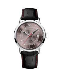 88 Rue Du Rhone Black 87wa140026 Men's Double 8 Origin Leather Strap Watch