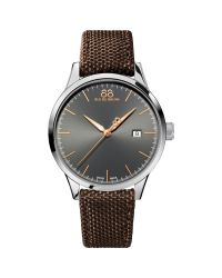 88 Rue Du Rhone Brown 87wa154109 Men's Rive Nato Fabric Strap Watch for men