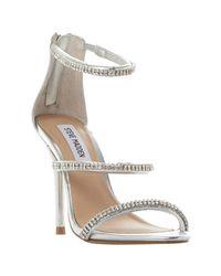 Steve Madden - Metallic Wren-r Sm Jewelled Strap Stiletto Sandals - Lyst