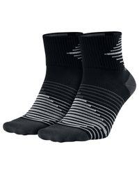 Nike Black Performance Lightweight Quarter Running Socks for men