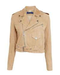 Polo Ralph Lauren Natural Suede Biker Jacket