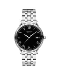 Montblanc Metallic 116483 Tradition Date Automatic Bracelet Strap Watch for men