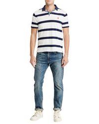 Ralph Lauren White Polo Custom Slim Fit Cotton Polo Shirt for men