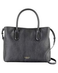 Radley Black Gainsborough Medium Leather Multi Grab Bag