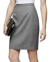 Reiss | Gray Austin Tailored Pencil Skirt | Lyst