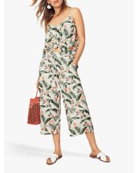 Oasis Green Delia Palm Print Trousers
