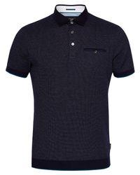 Ted Baker Blue Alburt Polo Shirt for men