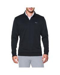Under Armour Black Storm Quarter Zip Fleece Sweatshirt for men