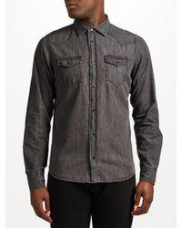 DIESEL Gray Sonora-e Denim Shirt for men