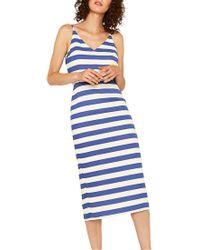 0ac840660480 Oasis Stripe Cami Dress in Blue - Lyst