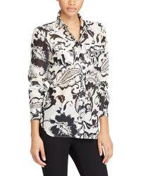 Ralph Lauren Black Lauren Paisley Print Cotton-silk Shirt