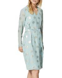 SELECTED - Green Valora Foil Spot Dress - Lyst
